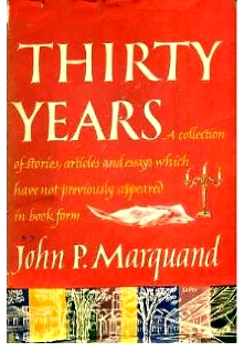 Cover of first U. S. edition of 'Thirty Years'